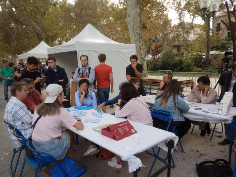 L'un des ateliers « jeux » : mah-jong (département de chinois-UPV)
