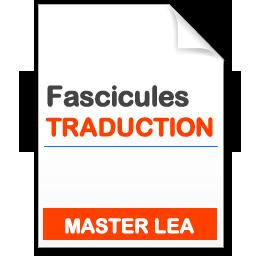 Télécharger le Fascicule Master LEA Traduction