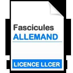 Fascicule Licence LLCER Allemand