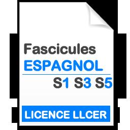 2019-2020 Fascicules Licence LLCER Espagnol S1-3-5