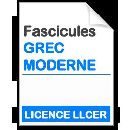 Fascicule licence LLCER Grec Moderne