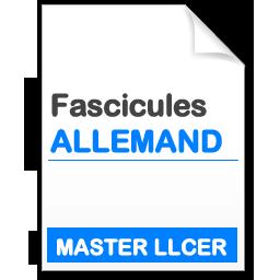 Fascicule Master LLCER Etudes Germaniques