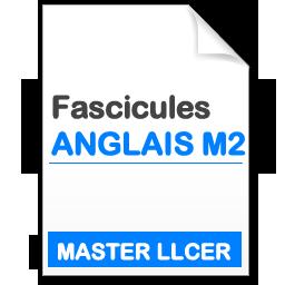 fascicule Master 2 Etudes Agnlophones