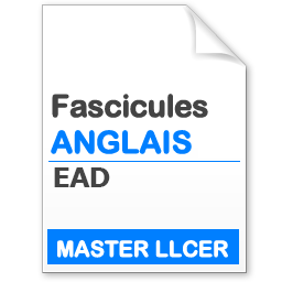 fascicule master LLCER angglais EAD