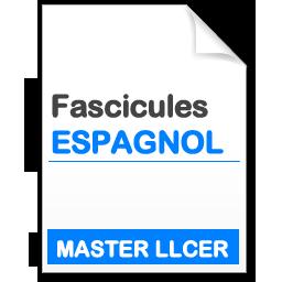 Fascicule master Littératures et Civilisations Etrangères et Régionales (LLCER) Études hispanophones