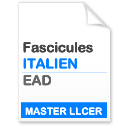 fascicule mllcer EAD études italiennes