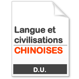 maquette formation DU Langues et civilisation chinoises