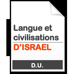 maquette formation DU Langues et civilisation d'Israël