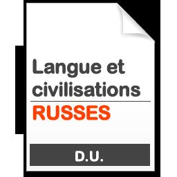 maquette formation DU Langues et civilisation russes