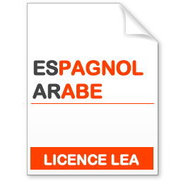 maquette formation licence lea espagnol-arabe