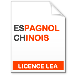 maquette formation licence lea espagnol-chinois