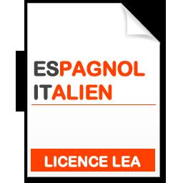 maquette formation licence lea espagnol-italien