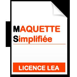 maquette simplifiée  de la licence lea