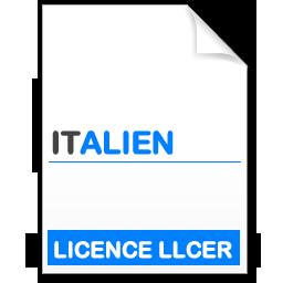 maquette formation licence Littératures et Civilisations Etrangères et Régionales (LLCER) - italien