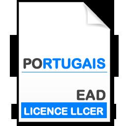 maquette formation licence Littératures et Civilisations Etrangères et Régionales (LLCER) - portugais en Enseignement à Distance (EAD)