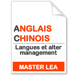 maquette formation master Langues et alter management anglais-chinois