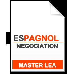 maquette formation master Négociation de projets internationaux espagnol