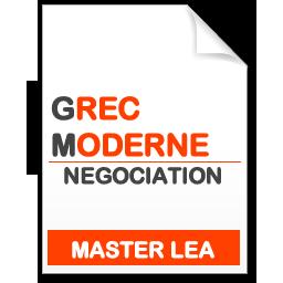 maquette formation master Négociation de projets internationaux grec moderne