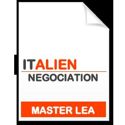 maquette formation master Négociation de projets internationaux italien