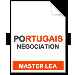 maquette formation master Négociation de projets internationaux portugais