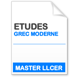 maquette formation master llcer études néo-helléniques