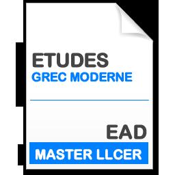 maquette formation master llcer études néo-helléniques en enseignement à distance EAD