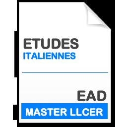 maquette formation master llcer études italiennes en enseignement à distance EAD