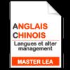 maquette formation master Langues et alter management anglais-chinois