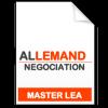 maquette formation master Négociation de projets internationaux allemand