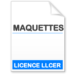 Maquettes Licence Littératures et Civilisations Etrangères et Régionales (LLCER)