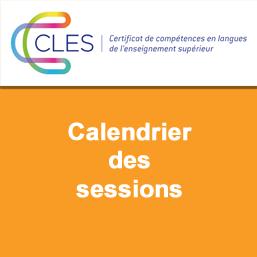 CLES - Calendrier des sessions