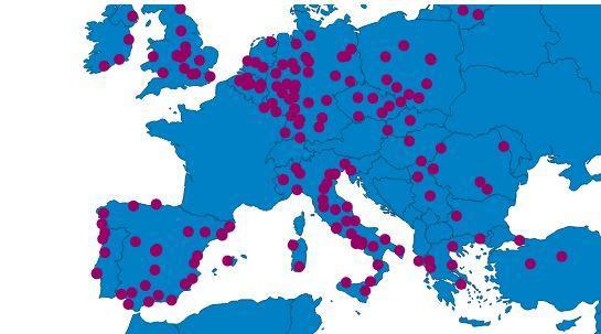 Carte interactive des accords