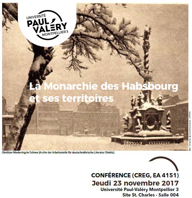 Conférence : La Monarchie des Habsbourg et ses territoires -  (CREG, EA 4151)
