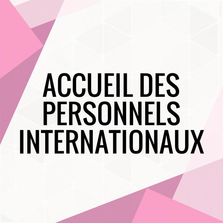 visuel Accueil des personnels internationaux