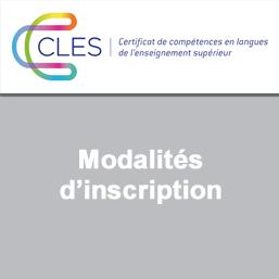 CLES - Modalités d'inscription