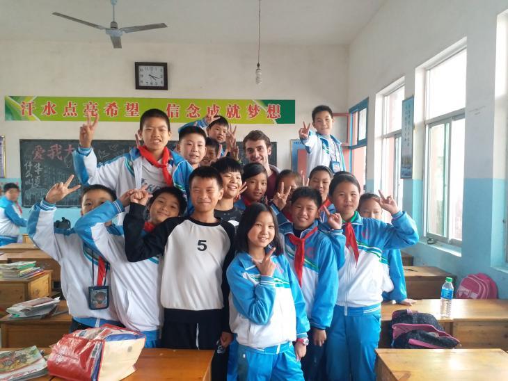 Julien et ses élèves d'une semaine