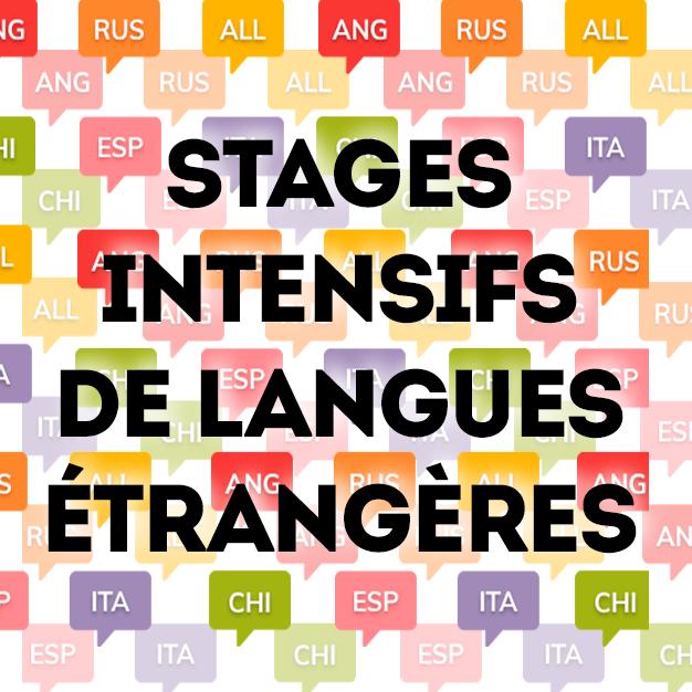 stages intensifs de langues étrangères
