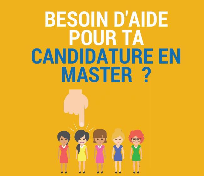 candidater en master